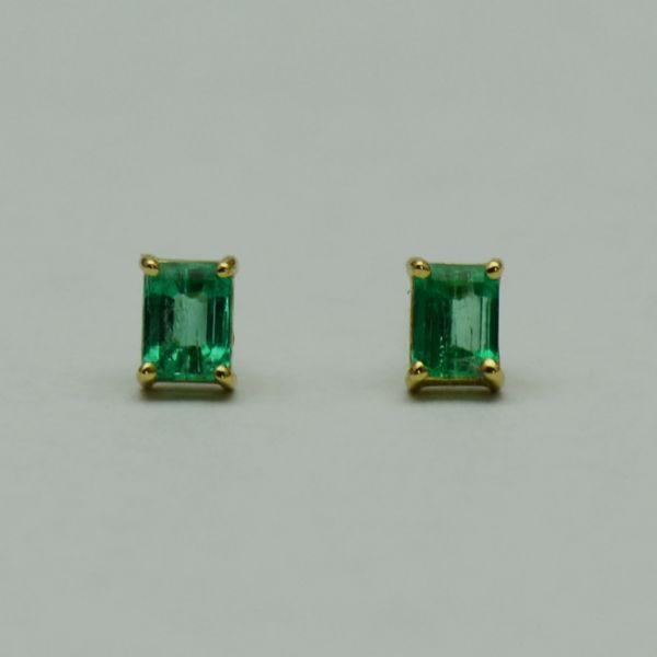 Cercei de aur galben 18k cu smaralde #smaralde  #cerceicusmaralde  #emeraldearrings #emeralds