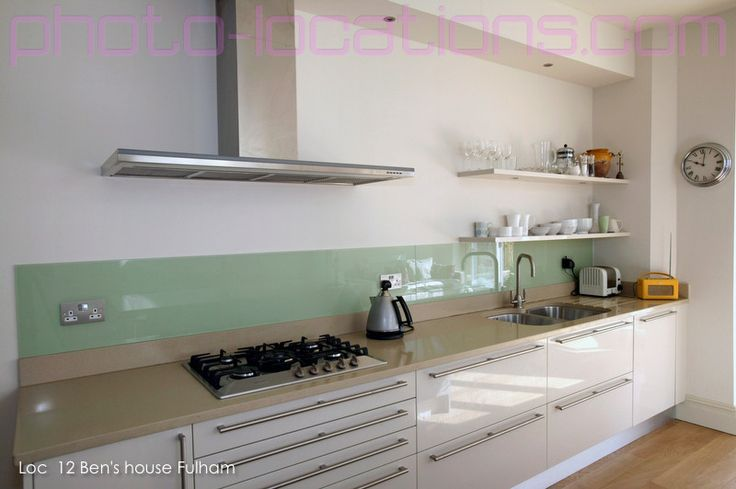 Kitchen Backsplash No Upper Cabinets glass backsplash, no upper cabinets, white lower cabinets