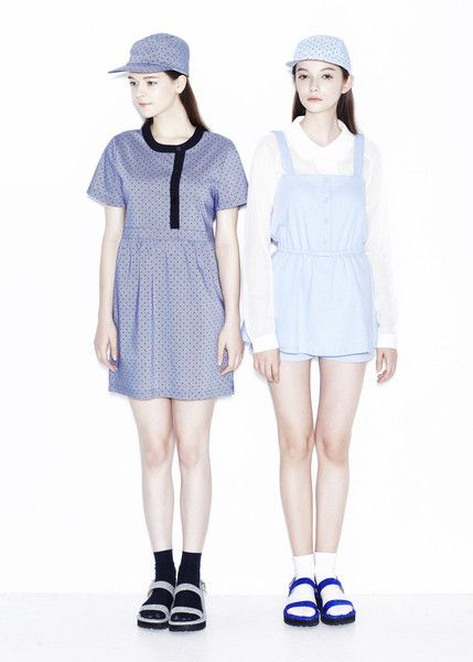 A casual little dress with a twist by Seoul-based label Margarin Fingers. The relaxed fit, short sleeves and crew neckline create a pared-down silhouette. The b