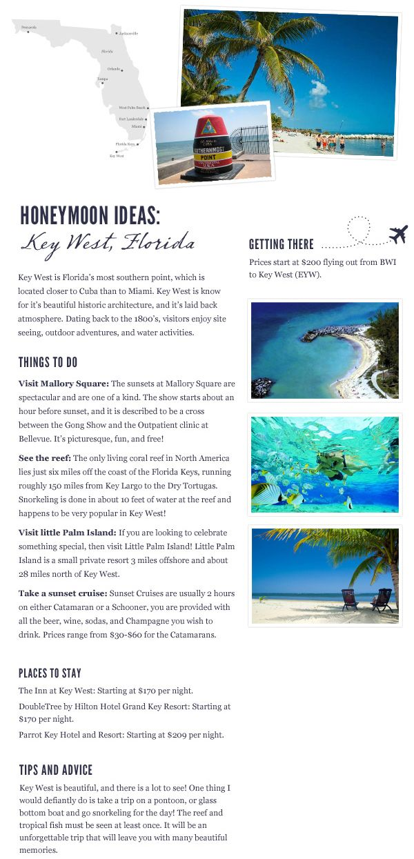 Honeymoon in Key West   Travel Inspiration via Bayside Bride