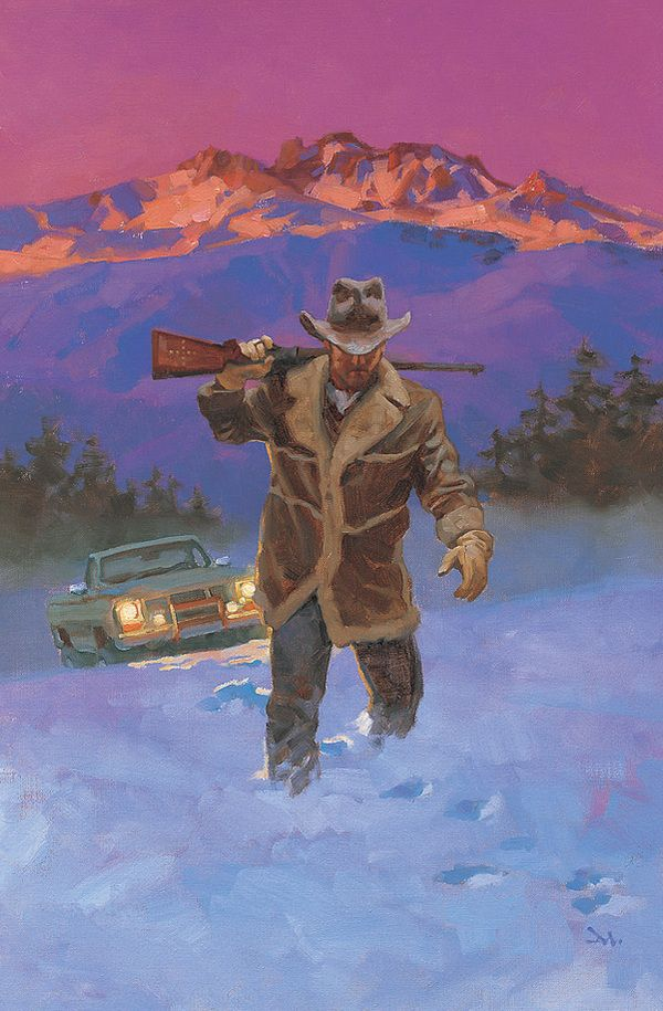 "Gregory Manchess, used on the cover of ""The Cold Dish"" by Craig Johnson (the first in the Walt Longmire mysteries)"