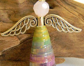 Ángel de la guarda ornamento - espejo retrovisor - papel grano Angel - vacaciones ángel - ornamento de la Navidad - regalito - #1226