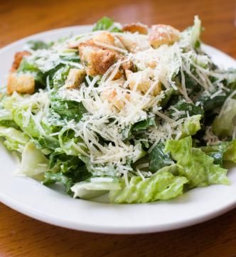 Traditional Caesar Salad - lots of work but worth it!