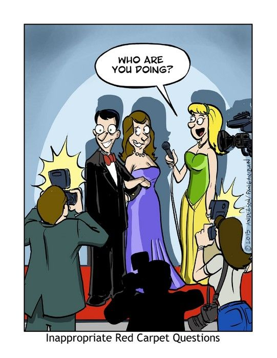 We all want to know... #redCarpet #questions #comic  Recess on Alphacomedy.com