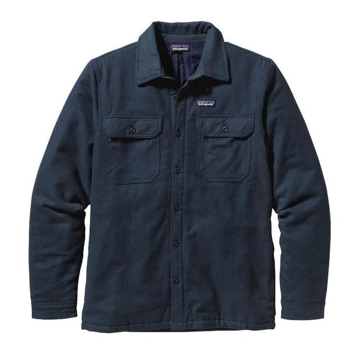 Patagonia Men\'s Insulated Fjord Flannel Jacket - Smolder Blue SMDB
