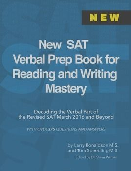 The New SAT Verbal Prep Book gives you the most effective tips, tricks and tactics from Get 800, a prep company of doctors dedicated to their students achieving their dream SAT scores. This book is for the revised SAT beginning in March 2016. The New SAT Verbal Prep Book is an essential part of every study plan to help you  -get a perfect verbal score -improve enough to get into the school you want -learn SAT Reading and Writing in the fastest, most effective way possible The material in…