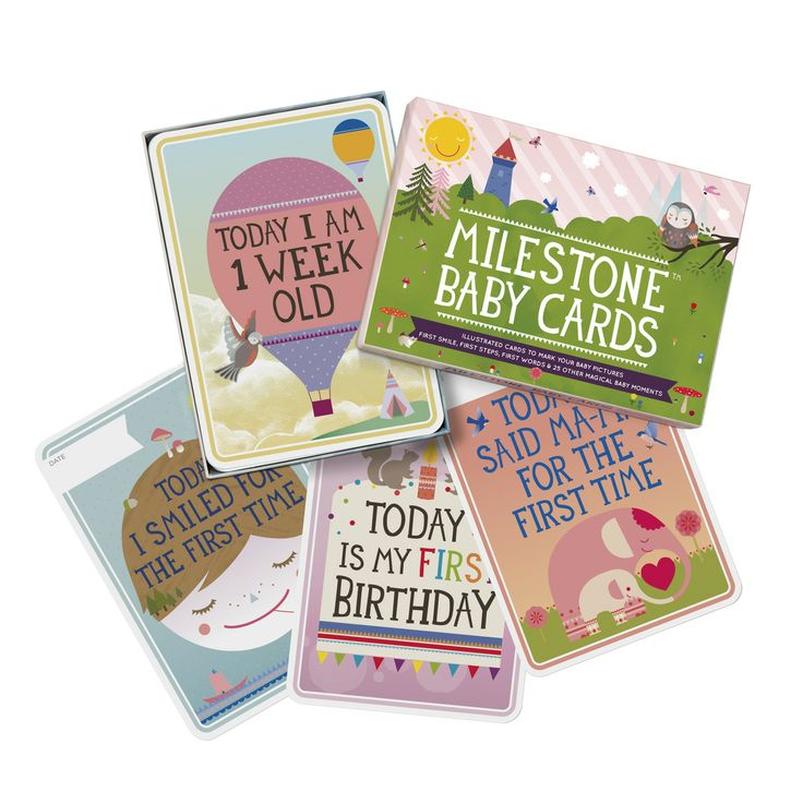Small packshot of MILESTONE Baby Cards. Set of 30 cards to capture your baby's first year in weeks, months and big events. www.milestonecards.com