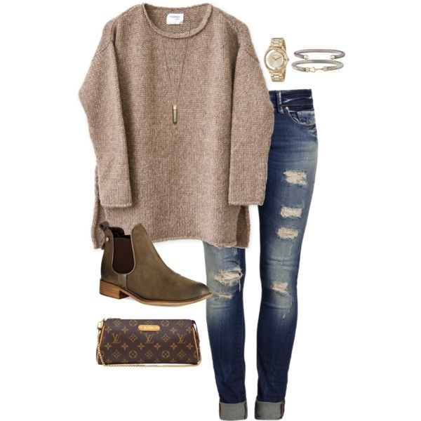 A fashion look from December 2015 featuring Mavi jeans, Steve Madden ankle booties and Louis Vuitton handbags. Browse and shop related looks.