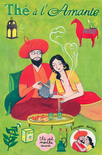 By Anne Laval, 2010, Postcard: Tea lover.