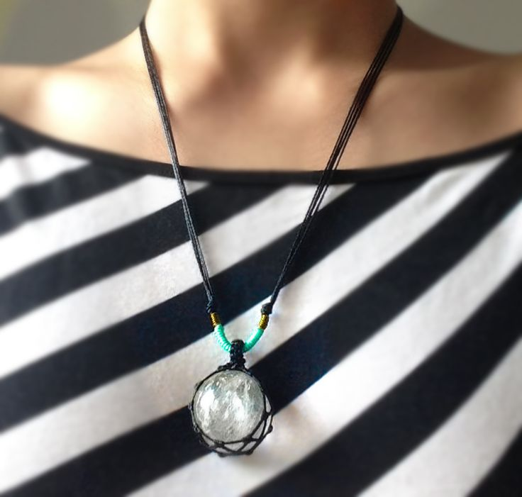 SANAM-Crystal Ball Necklace - 30$