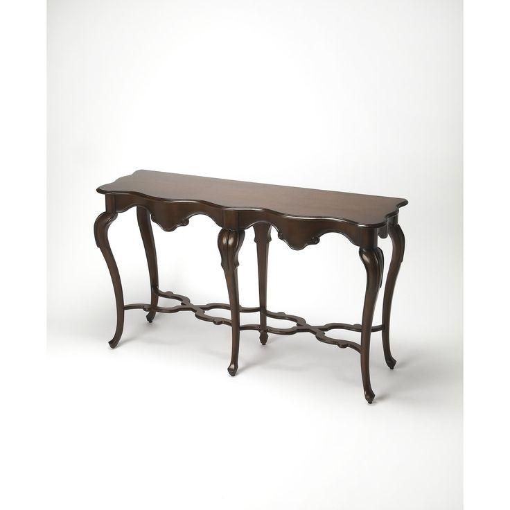 Butler Wentworth Plantation Cherry Console Table (Dark Brown)
