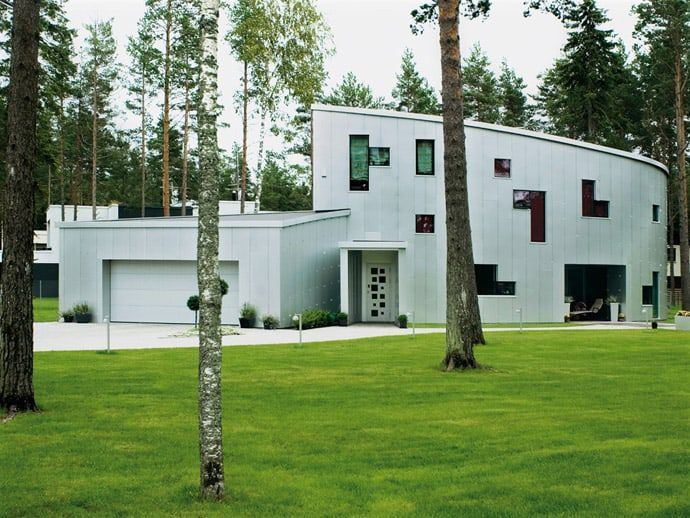 Modern Aluminium House Design  by Arhitektid Muru & PereDesigned by Arhitektid Muru & Pere, the Aluminium House is located in Rannamõisa near Tallinn,Estonia. The idea was to have two stories of a differen... Architecture
