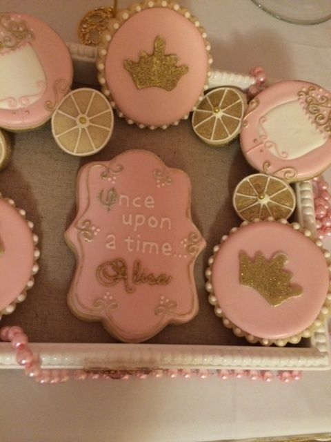 Beautiful cookies at a Princess party!See more party ideas at CatchMyParty.com! #partyideas #princess