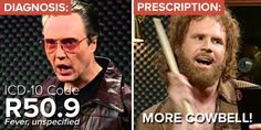 icd-10-cm fever more cowbell - Google Search