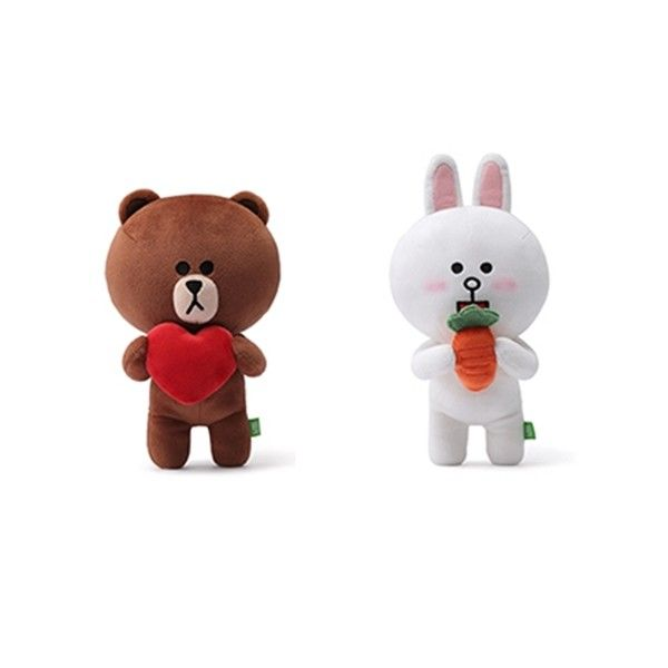 NAVER LINE FRIENDS - OFFICIAL GOODS : CHARACTER DOLL 25CM (2 TYPE)