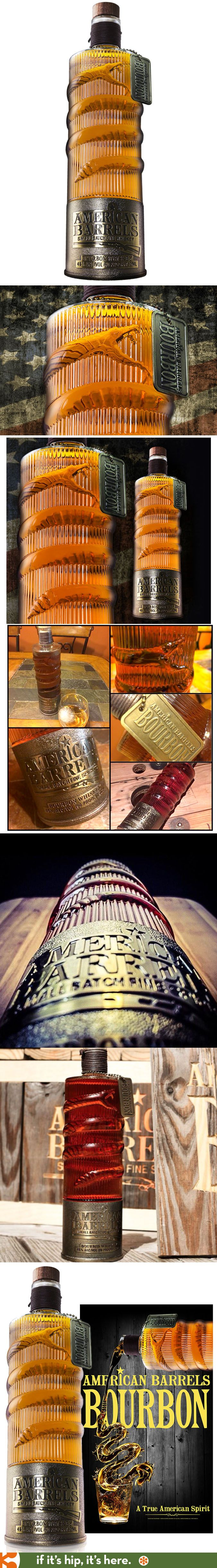 American Barrels Bourbon has a bottle with a snake wrapped around it designed by…