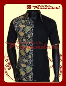 Kemeja Ima Hitam Kombinasi Batik
