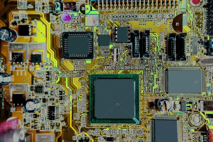 Alaplap számítógép hardver elektronika részletesen — Stock Kép #5502996