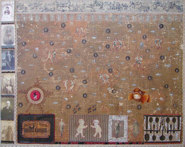 "Aidon Westcott ""Seeds of Animus"" Mixed media collage"
