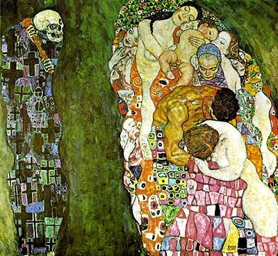 "Gustav Klimt (one of my fav artists) ""Death and Life"""
