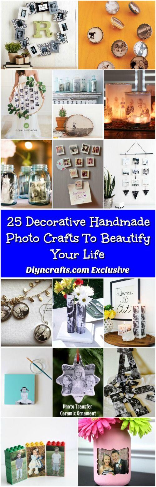 25 Decorative Handmade Photo Crafts To Beautify Your Life via @vanessacrafting