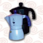 "Bialetti Dama stovetop espresso maker in powder blue. I sought this out (a.k.a.""hunted it down"", dragging my husband to every kitchen store in Venice) while in Italy on our honeymoon Feb. 2001. After seeing it in The Saveur 100 in Jan. 2001's issue #48 (#77 on the list), I was determined to buy one. Since then, it has been tradition to end every successful meal with excellent (Illy) espresso from this hard-won trophy. #saveur #dinnerparty"