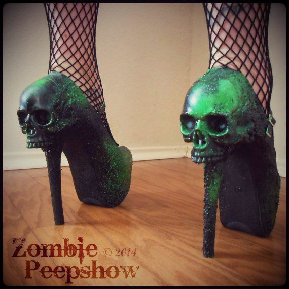 Hey, I found this really awesome Etsy listing at https://www.etsy.com/listing/187294915/skull-purgatory-wedges-and-heels