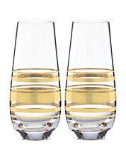 Hudson's Bay - Kate Spade Hampton Street Stemless Champagne Two-Glass Set