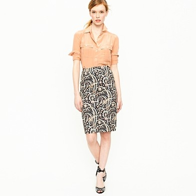 J. Crew Pencil skirt in feather paisley: Work Wardrobe, Jcrew Items, Jcrew Obsession, Jcrew Addiction, Jcrew Skirts