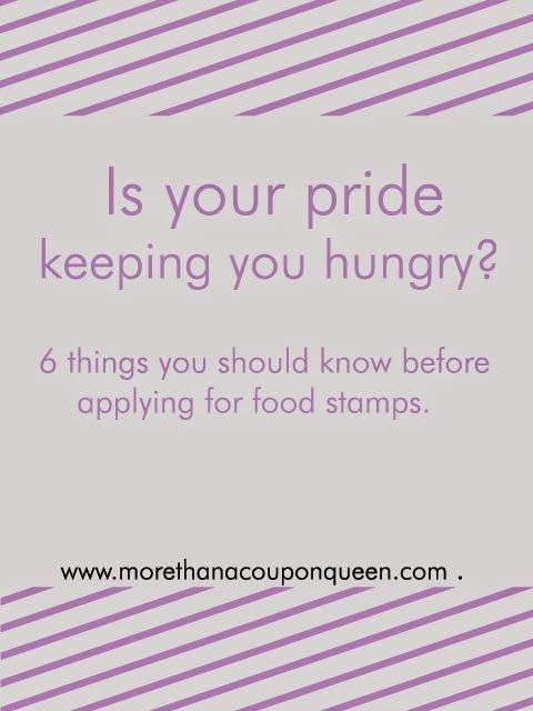 Is your pride keeping you hungry? 6 things you should know before applying for food stamps
