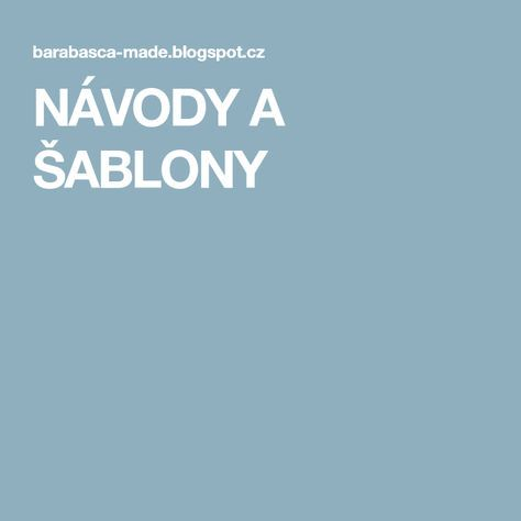 NÁVODY A ŠABLONY