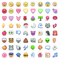 Here is a complete list of all Facebook Emoticons. As you can see you have loads of great emoticons to choose from! There are the familiar smiley faces codes in addition to huge number of new Emoji emoticons which are really popular.