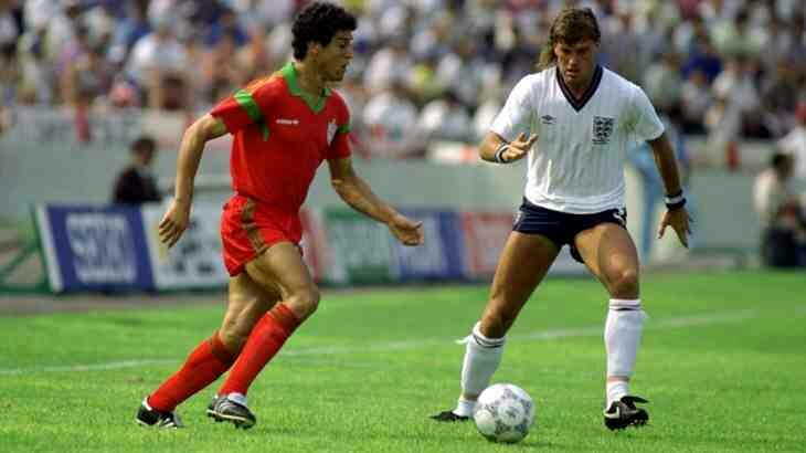 England 0 Morocco 0 in 1986 in Monterrey. Morocco looked very organised from the kick off in Group F at the World Cup Finals.