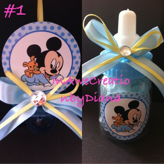 Mickey Mouse Baby shower Pacifier and by InAweCreationbyDiana