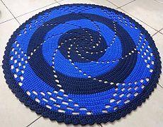 Коврик спираль крючком. Вязание коврика крючком по спирали | Домоводство для всей семьи