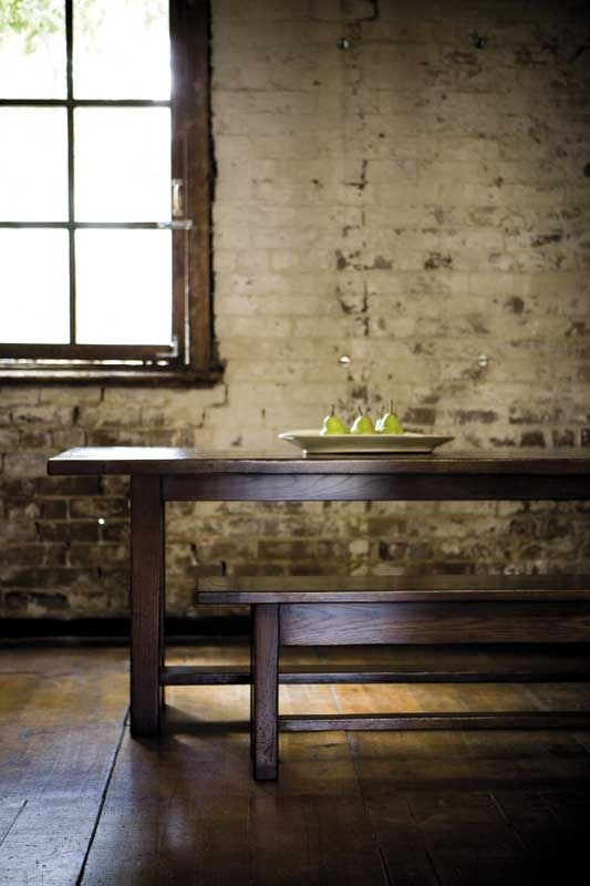 Oak Square Leg Refectory Table