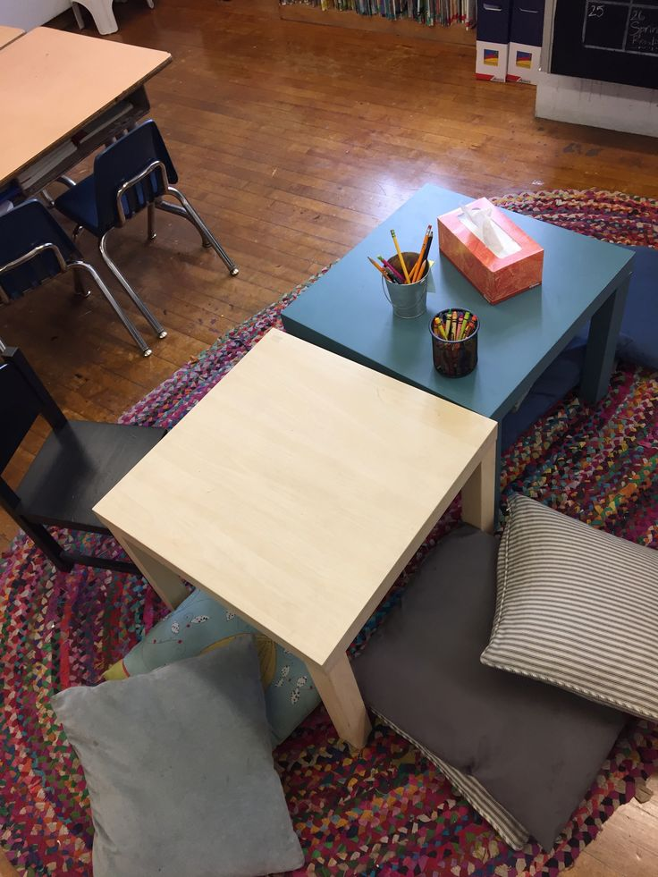 Flexible Seating With Ikea Tables - Table Pliable Ikea