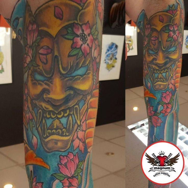 Fierce colourful tattoo done with #magnumtattoosupplies 👊🏿👊🏿  #japanesetattoos #koitattoo #peonytattoo #radiantcolorscrew #orientaltattoodesign #orientalart #orientaltattoo #asiantattoo #asian_inkandart #tattoo_artwork #tattoo_art_worldwide #sumi #zackchiswell #familyink #familyinktattoo #tattoo #tattoos #uktta  #txttooing #the_tattoo_station1 #tattoos #ink #bng