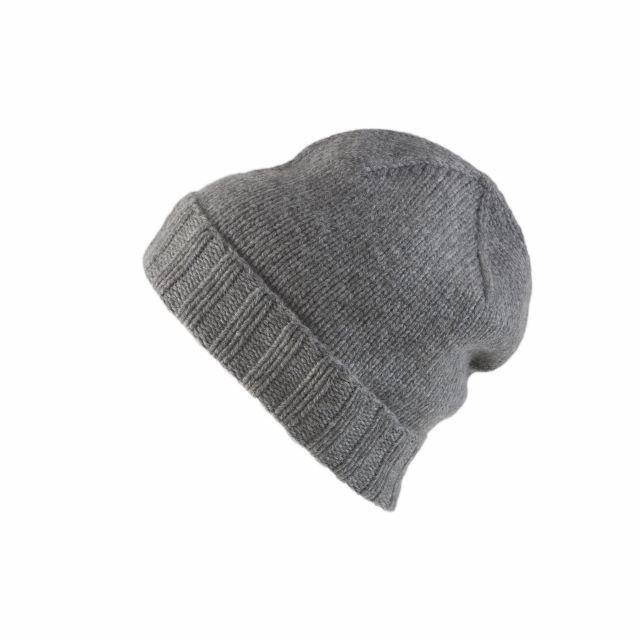 Berlin beanie, wool / cashmere, melange grey
