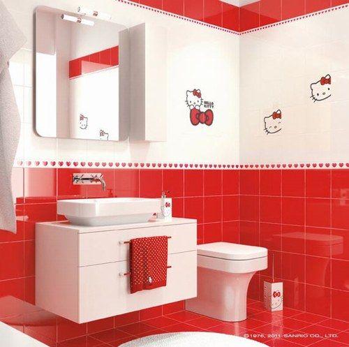 oltre 25 fantastiche idee su pareti piastrellate da bagno On piastrelle hello kitty