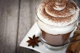 varmchoklad är vår speciallitet på drickfronten