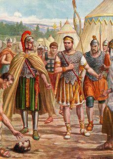 Hasdrubal's head thrown into the camp of Hannibal