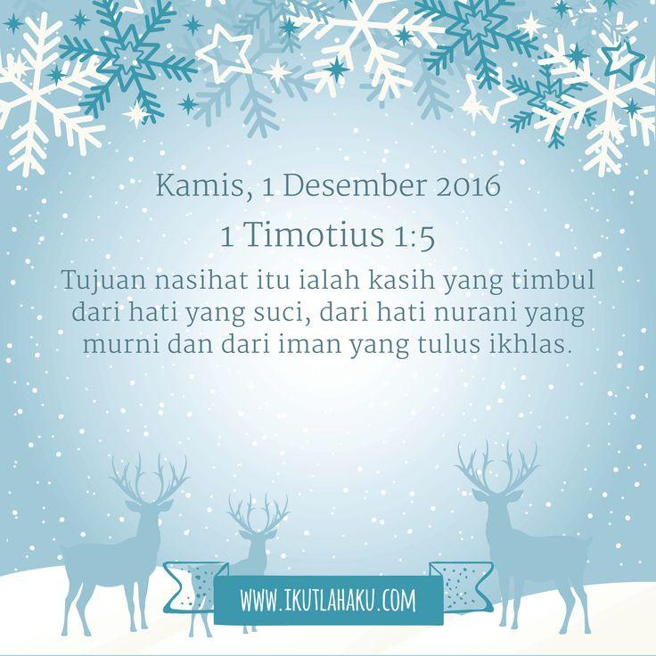 Renungan Hari Kamis 1 Desember 2016