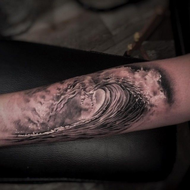 Ocean Wave Tattoo