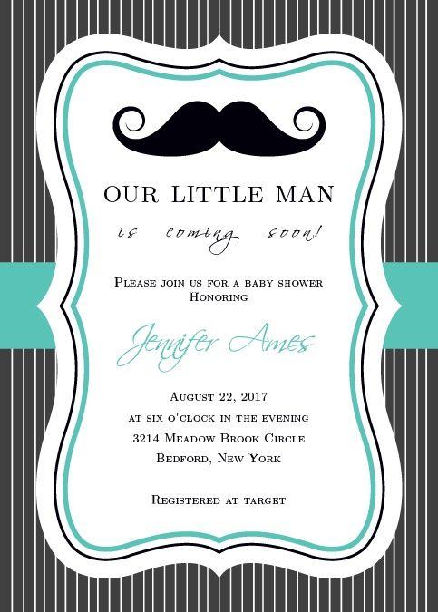 Superior Little Man Baby Shower Invitation
