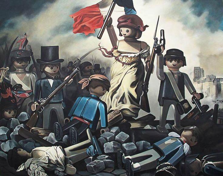 La Liberté guidant le peuple - Delacroix- Playmobil.