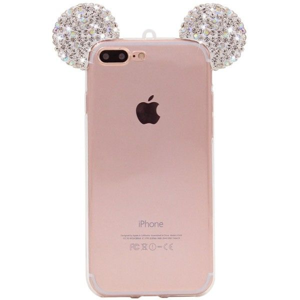 iPhone 7 Plus Case, Sharewell 3D Crystal Rhinestone Mickey Mouse Ears... ($3) ❤ liked on Polyvore featuring accessories and tech accessories
