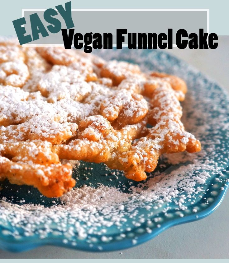 Easy vegan funnel cake this is perfect for those summer carnival/festival cravin…