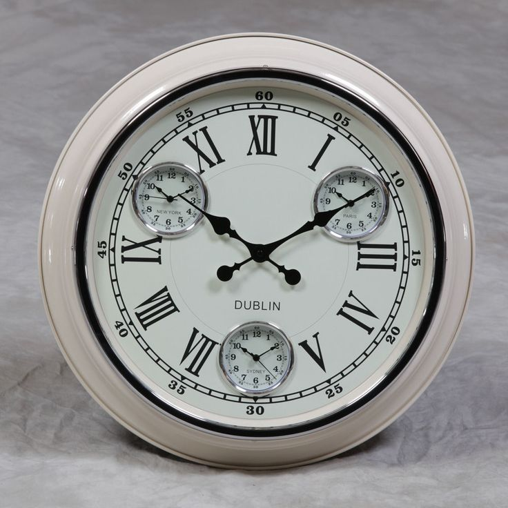 large multi dial wall clock - Google Search