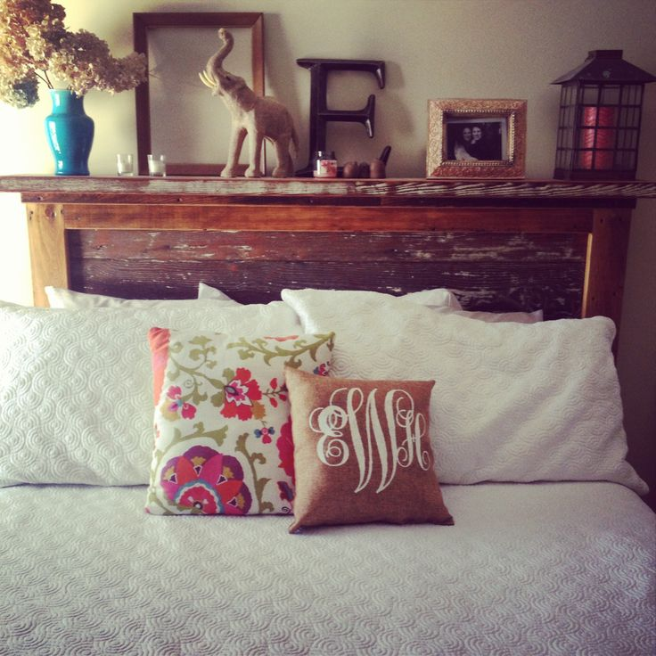 Handmade headboard #headboard #bed #bedroom #reclaim #woodenbed